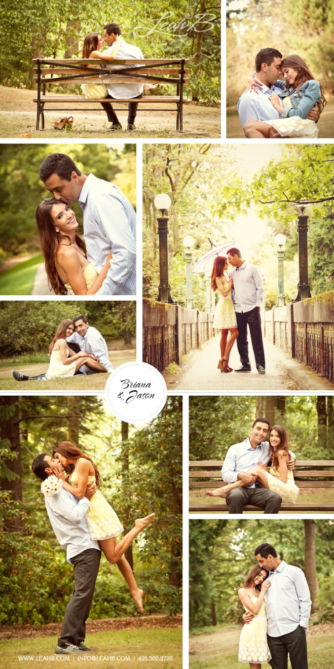 {Briana & Jason } - Arboretum Engagement Session