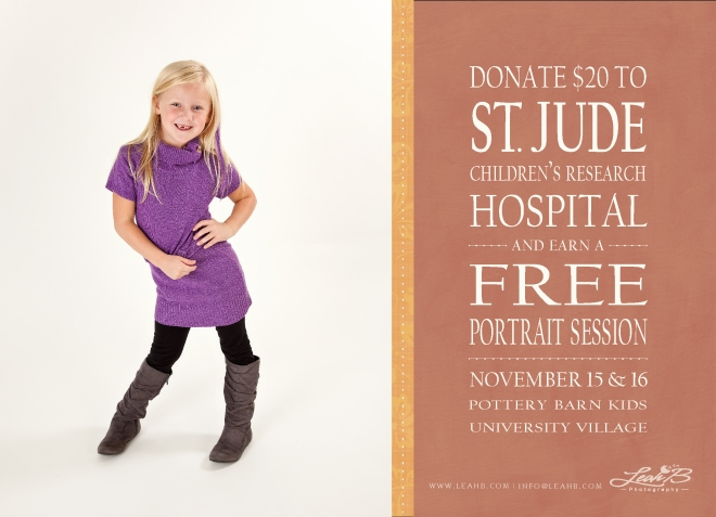 Free Portrait Session in Support of St. Jude's